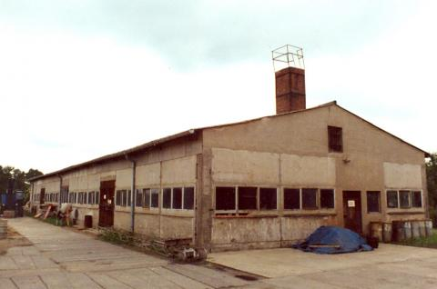 Das heutige Parkhaus von Mein Parken um 1960 als Tischlerei